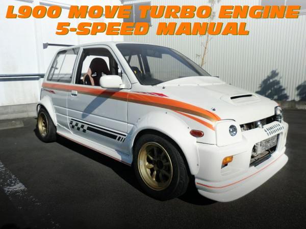 レーススペック!L900ムーヴ用EF-DETターボエンジン移植5速MT組み合わせ!オーバーフェンダーワイド!L200系ミラの中古車を掲載!