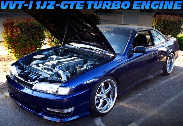 VVTiターボ1JZ-GTEエンジン移植!JDMシルビアボディ仕上げ!S14日産240SXのアメリカ中古車を掲載!