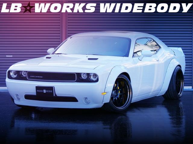 LB-WORKSワイドボディ仕上げ!WORK特注20インチホイール!3代目ダッジ・チャレンジャーSXTの国内中古車を掲載!