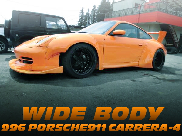 ワンオフオーバーフェンダーワイドボディ!特注ディープホイール!996型ポルシェ911カレラ4の国内中古車を掲載!
