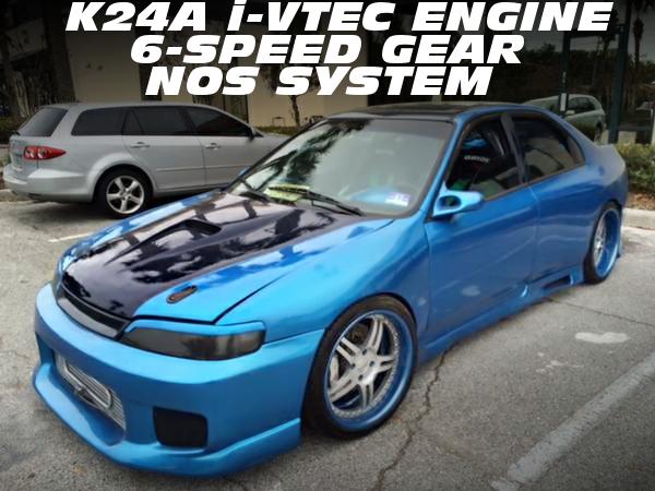 K24A改i-VTECターボエンジン6MT仕上げ!NOSウエットショット!CD5アコードセダンのアメリカ中古車を掲載!