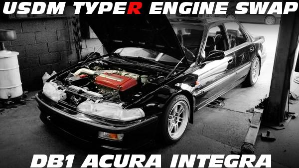 USDMタイプR用B18C型VTECエンジン移植5速MT仕上げ!2代目DB1型インテグラ4ドアのアメリカ中古車を掲載!