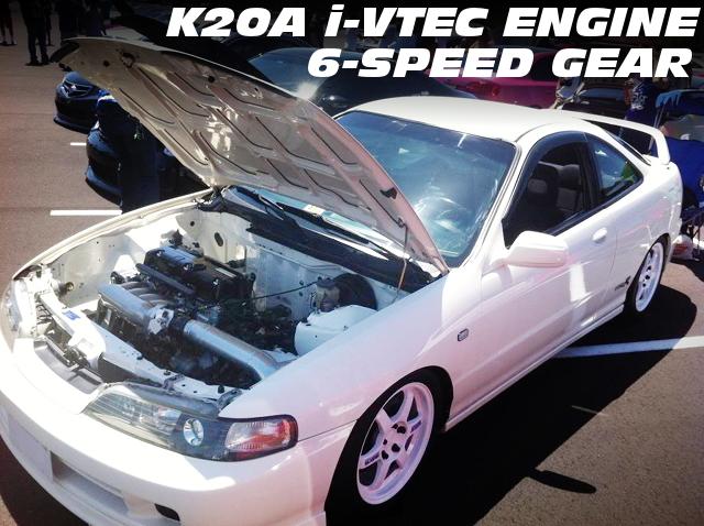 K20A型iVTECエンジン6速MT仕上げ!JDM顔!左ハンドルUSDMモデルDC2インテグラ・タイプRのアメリカ中古車を掲載!