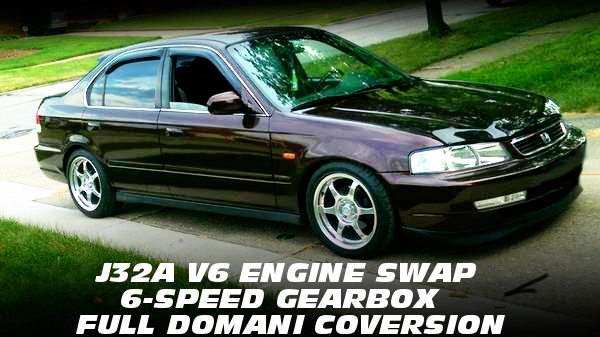J32A型3.2リッターV6エンジン6速MT仕上げ!ドマーニ化!EK系シビックセダン(フェリオ)のアメリカ中古車を掲載!