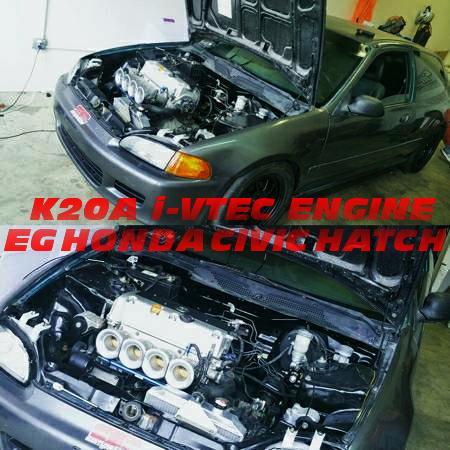 K20A改4連スロットルエンジン搭載!6速MT仕上げ!5代目EG系シビックのアメリカ中古車を掲載!