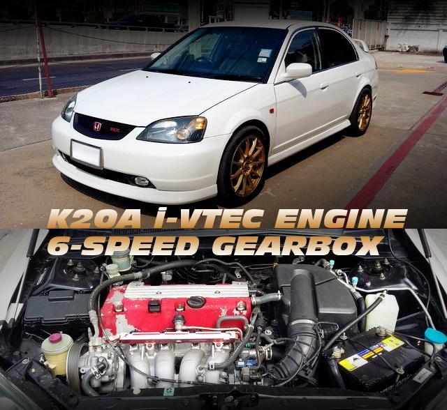 K20A型i-VTECエンジン6速MT移植!ES型3代目シビックフェリオRXのタイ中古車を掲載!