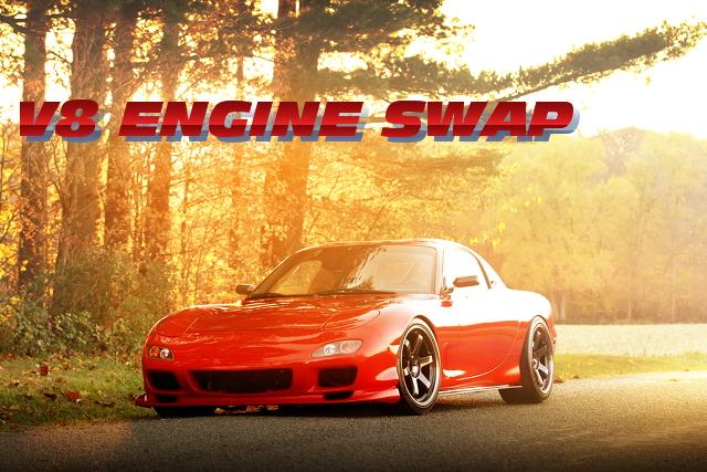 5.7リッターV8!LS1エンジン6速MT仕上げ!FD3SマツダRX-7のアメリカ中古車を掲載!