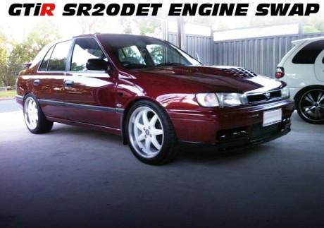 パルサーGTiR用4スロ仕様SR20DETエンジンS15タービン!フルコン制御!N14系パルサー4ドアのオーストラリア中古車を掲載!