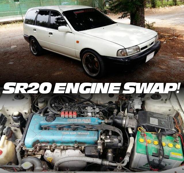 SR20DEエンジンATシフト仕上げ!スカイライン用ディスクブレーキ前後移植!Y10日産ADバン(NVバン)のタイ中古車を掲載!