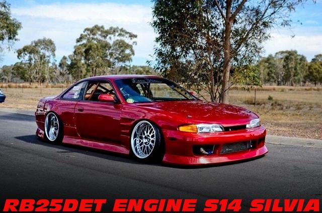 500馬力!RB25DETエンジンT67タービン!フルコン制御!S14シルビアのオーストラリア中古車を掲載!