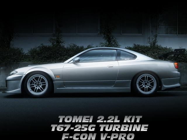 東名2.2LエンジンT67-25GタービンVプロ制御!ワイドフェンダー化!S15シルビアの国内中古車を掲載!