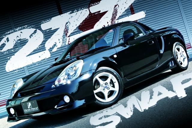 2ZZエンジン公認6速MT組み合わせ!外装足回り純正コンディション!後期トヨタMR-Sの国内中古車を掲載