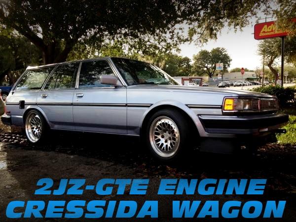 2JZ-GTEエンジン移植ビッグシングルタービン!X70系クレシーダワゴンのアメリカ中古車を掲載!