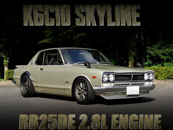 RB25DE改2.8Lエンジン搭載!ソレタコマフラー!R32タイプM用5速MT!KGC10型ハコスカR仕様の国内中古車を掲載!