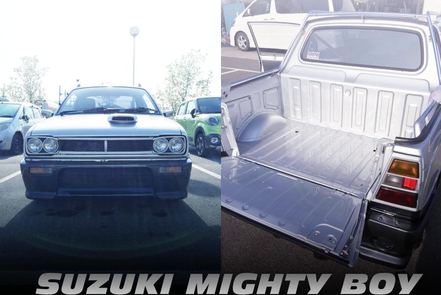 C10型ハコスカ顔仕上げ!アルトワークス用エンジン移植!SUZUKIマイティボーイの国内中古車を掲載!