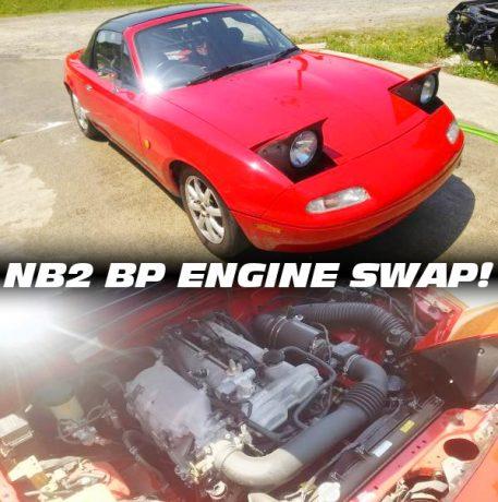 NB2型RS2流用BP系エンジン換装!6速MT組み合わせ!初代NA系マツダ・ロードスターの中古車を掲載!