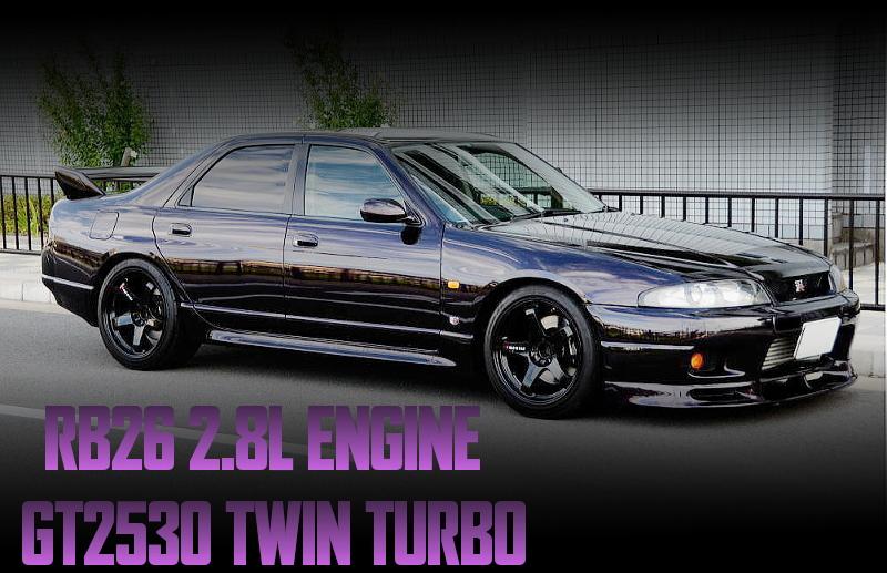 HKS2.8LキットGT2530ツインタービン!SS.CRAZY現車セッティング!R33型スカイライン4ドアGT-RオーテックVERの国内中古車を掲載!