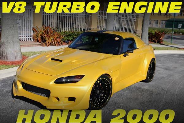 LS1改V8ターボエンジン搭載!ワイドボディ仕上げ!ホンダS2000のアメリカ中古車を掲載!
