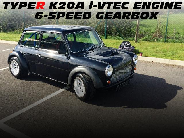 EP3シビックタイプR用K20Aエンジンミッドシップ換装!後輪駆動!オースチンMINIのイギリス中古車を掲載!