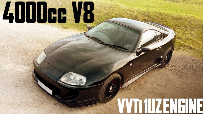 レクサスLS400用VVTi仕様1UZ型V8エンジンスワップ!JZA80スープラのイギリス中古車を掲載
