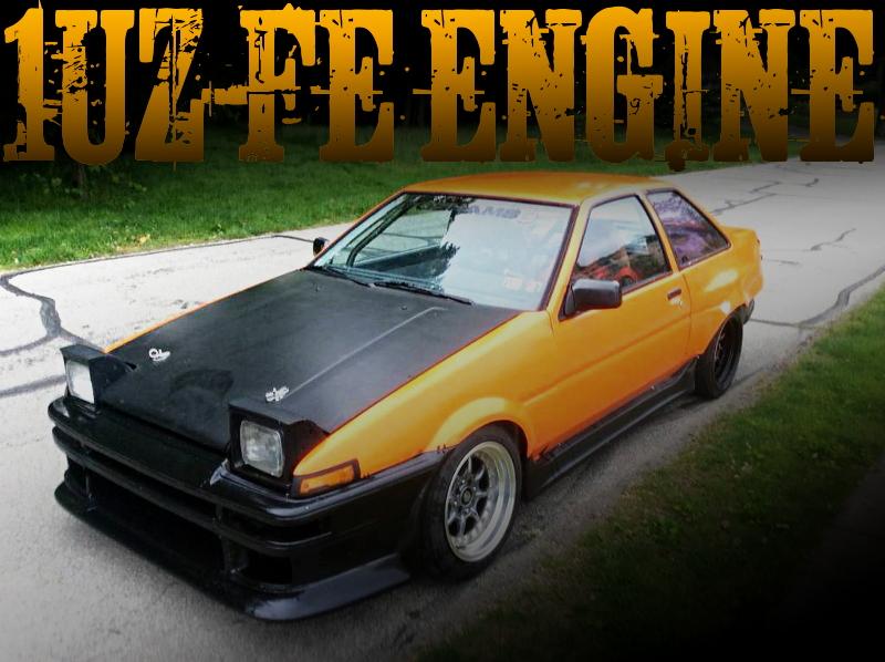 4リッターV8!1UZ-FEエンジン移植!スープラ5速MT換装!AE86系カローラのアメリカ中古車を掲載