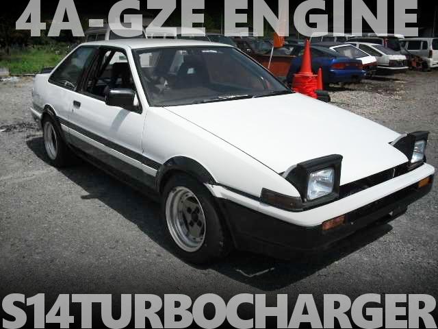 4AGZEエンジン改S14タービン!電動パワステ!AE86系レビン改トレノの国内中古車を掲載