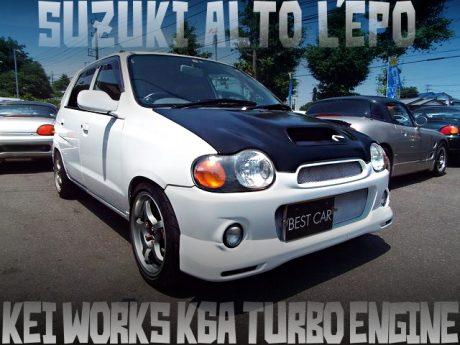 keiワークス用K6Aターボエンジンスワップ!アルトワークス顔変更!5代目アルトエポP2(5ドア)の国内中古車を掲載