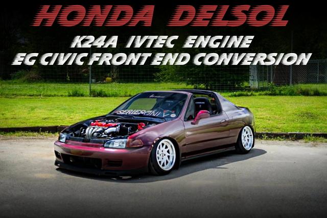 K24A型i-VTECエンジンスワップ!EGシビック顔面移植!HONDAデルソルSi(CR-X)のアメリカ中古車を掲載