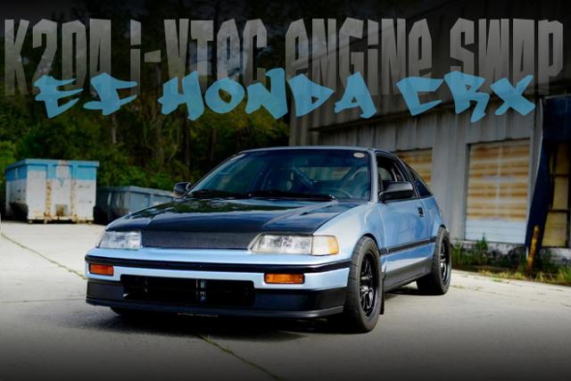 K20A型i-VTECエンジンスワップ!ワイヤータック仕上げ!EF型ホンダCR-Xのアメリカ中古車を掲載