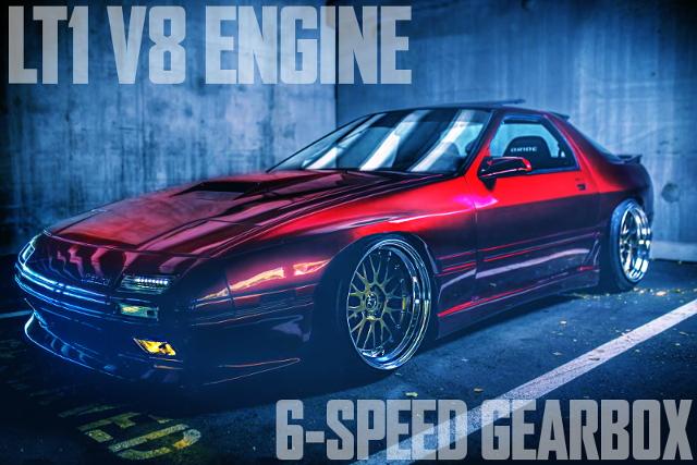 LT1型5.7リッターV8エンジン換装6速MT組み合わせ!ワイドボディ化!FC3S型マツダRX-7のアメリカ中古車を掲載