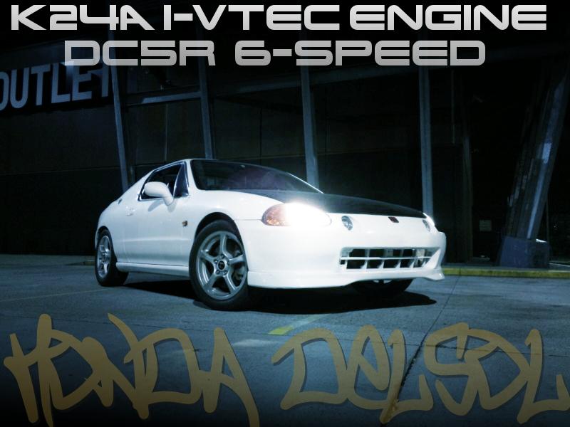 アコード用K24A型i-VTECエンジンK-PRO制御!DC5R用6速MT換装!HONDAデルソル(CRX)のオーストラリア中古車を掲載