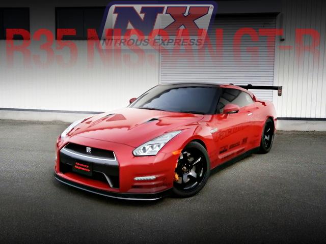東京オートサロン2016出展!NX社NOS取り付け!ブーストアップ600馬力!R35日産GT-Rブラックエディションの国内中古車を掲載