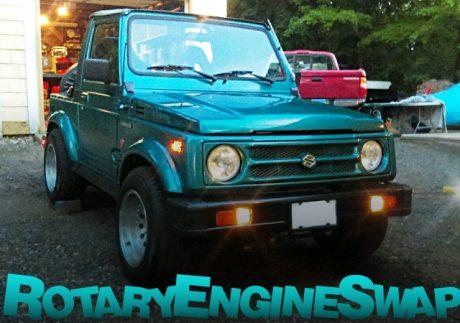 マツダ12A型ロータリーエンジンスワップ!ホリーキャブ!2代目スズキ・サムライ(ジムニー)のアメリカ中古車を掲載