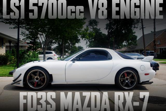 LS1型5.7リッターV8エンジン6速MT換装!3代目FD3S型マツダRX-7のアメリカ中古車を掲載