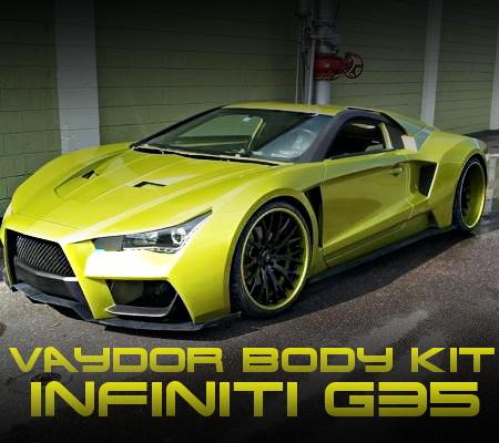 VAYDORワイドボディ仕上げ!LS1型5.7リッターV8エンジン移植!V35系インフィニティG35クーペのアメリカ中古車を掲載