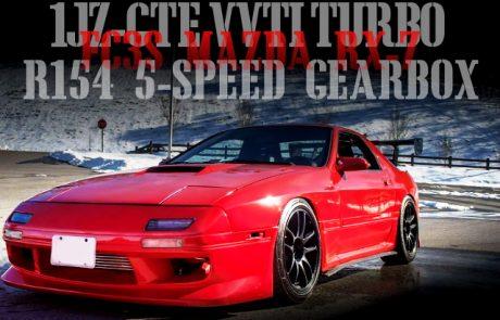 1JZ-GTE型VVTiターボエンジンスワップ!R154型5速MT換装!FC3S型マツダRX-7のアメリカ中古車を掲載