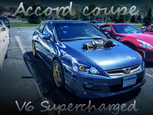 400馬力V6スーパーチャージャー仕上げ!J35Aヘッド+J32Aブロック!USDMモデル5代目アコードクーペのアメリカ中古車を掲載