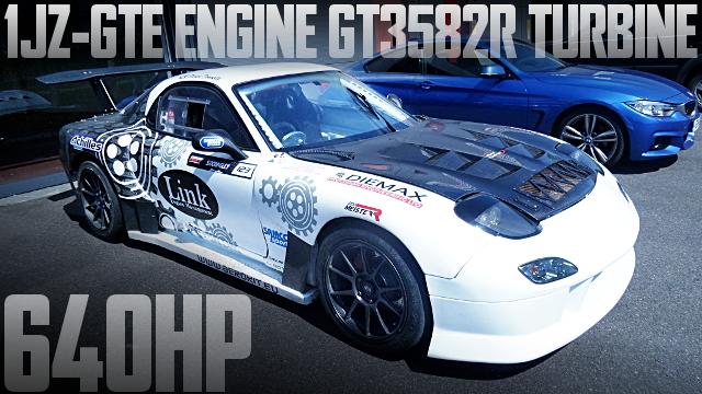 640馬力ドリフト仕様!1JZエンジン改GT3582Rビッグシングルタービン!FD3S型マツダRX-7のイギリス中古車を掲載