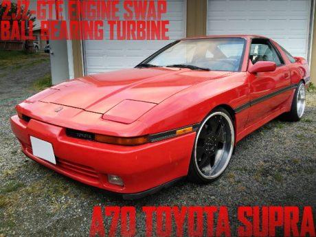 2JZ-GTEエンジン改ビッグシングルボールベアリングタービン!A70型トヨタ・スープラのアメリカ中古車を掲載