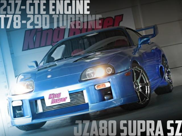 2JZ-GTEエンジン6速MTスワップ!T78タービンF-CONis制御JZA80スープラSZの国内中古車を掲載