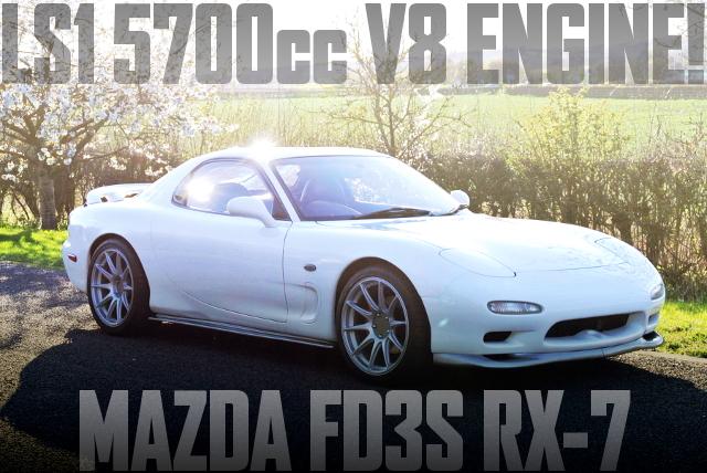 ポンティアックGTO用LS1型V8エンジン6速MTスワップ!右ハンドルFD3S型マツダRX-7のイギリス中古車を掲載