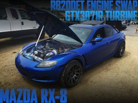 400馬力!日産RB20DETターボエンジン移植GTX3071Rタービン!SE3P型マツダRX-8のアメリカ中古車を掲載