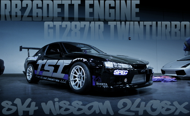 600馬力以上!R32GTR用RB26エンジン換装ギャレットGT2871Rツインターボ!S14日産240SXのアメリカ中古車を掲載