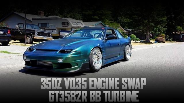 VQ35DEエンジン改GT3582Rボールベアリングタービン!ハルテック制御!S13日産240SXクーペのアメリカ中古車を掲載