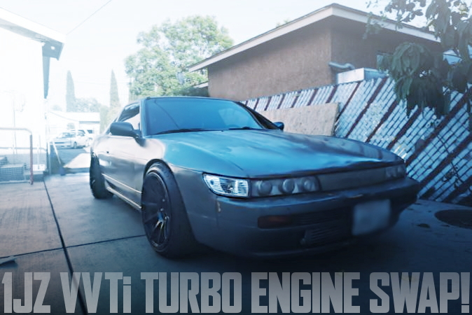 VVTi仕様1JZターボエンジン搭載R154系5速MT換装!シルエイティ仕上げ!S13型240SXのアメリカ中古車を掲載