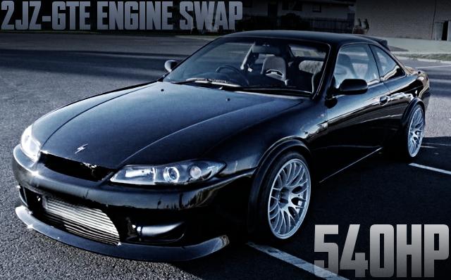 540馬力!2JZエンジン換装シングルタービン仕上げ!S15顔!S14日産200SX(シルビア)のオーストラリア中古車を掲載