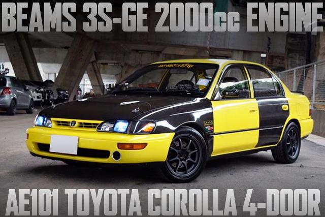 Beamsモデル(VVT-i)3S-GE型2000ccエンジン換装!5速マニュアル仕上げ!AE101型カローラ4ドアのタイ中古車を掲載