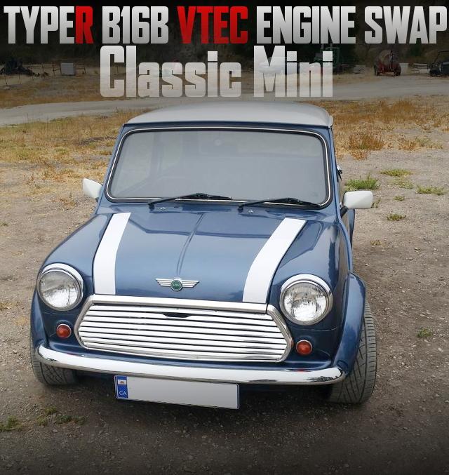タイプR流用B16B型1.6リッターVTECエンジンスワップ!オースチンMINIのアメリカ中古車を掲載