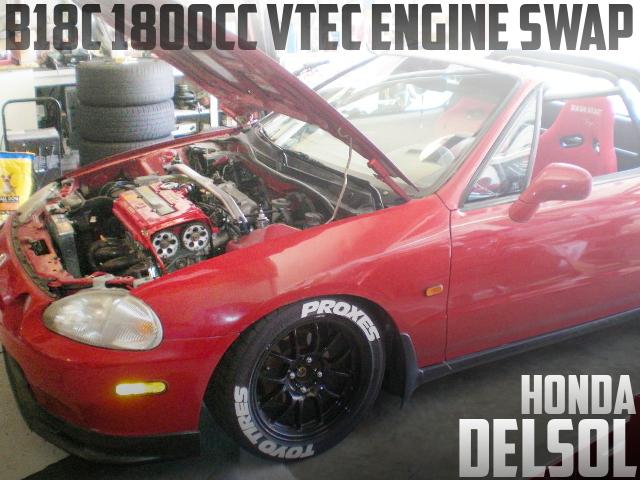 インテグラGSR用B18C型VTECエンジンスワップ!ホンダ・デルソル(CRX)のアメリカ中古車を掲載