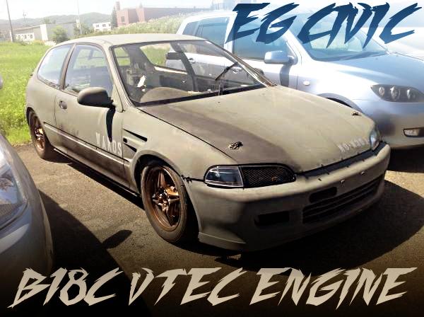 B18C型VTECエンジン5速クロスMT仕上げ!コンピューター書き換え!EG6型シビックの国内中古車を掲載
